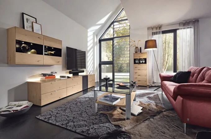 Wohnwand Grn Trendy Moderne Wohnwand Eiche Kryshainfo