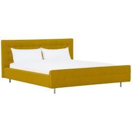 Vor dem Einschlafen nochmal zurücklehnen und bequem schmökern: Das Bett aus der Serie Chelsea ist mit einer Polsterung bezogen
