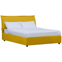 Komfort kann man nie genug haben. Gemäß dieser Maxime kommt das Polsterbett mit einem extragroßen Kissen am Kopfende. Damit ruhen Sie nicht nur in der Horizontalen weich