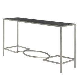 Konsolentisch Inga - Eisen / Glas - Silber / Schwarz