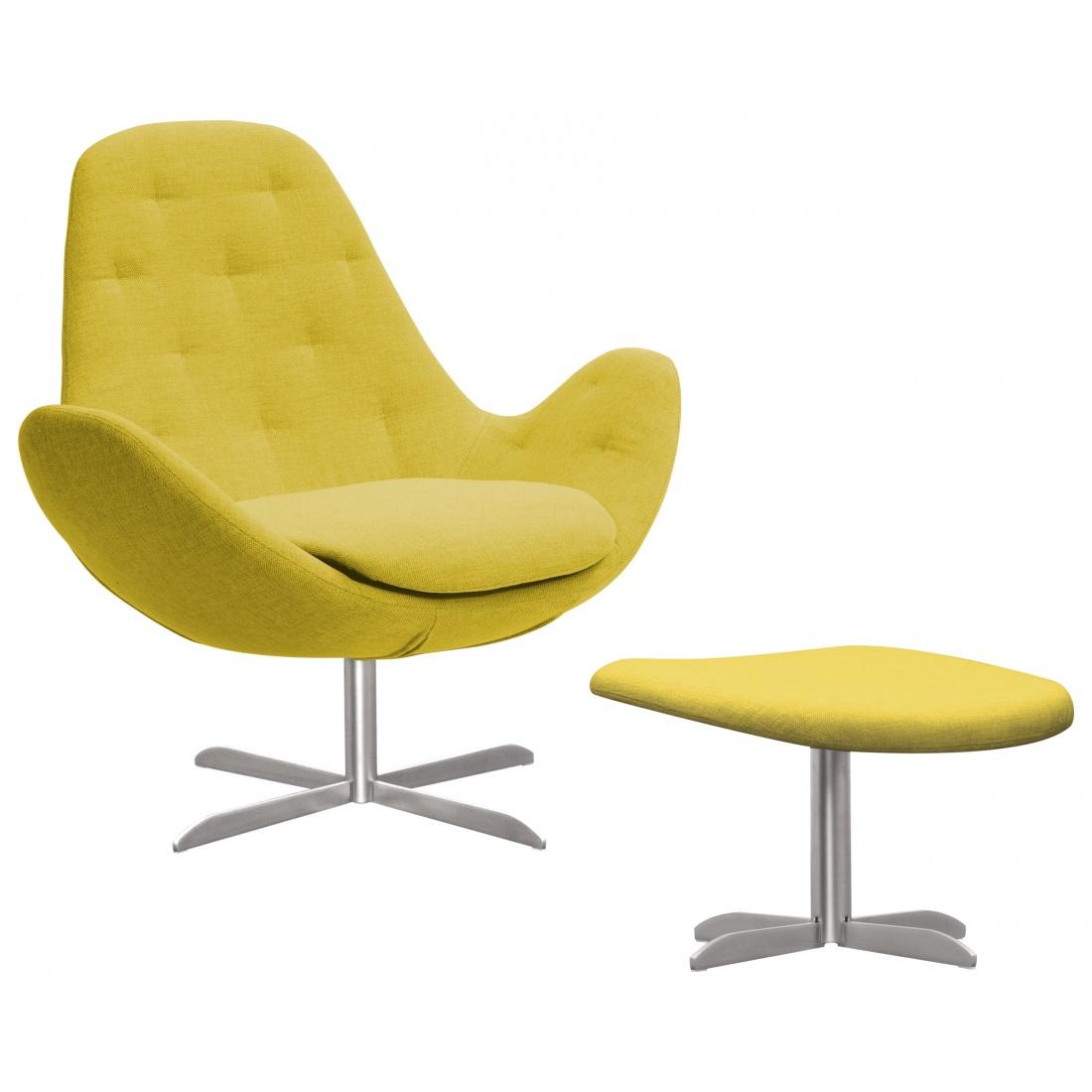 Sessel Mit Hocker Gelb Moebel Liebecom