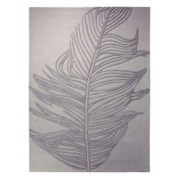 Teppich ESPRIT Feather - Grau - 200 x 200cm