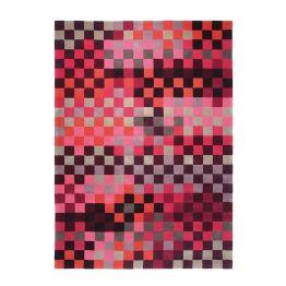 Teppich ESPRIT Pixel - Rot/Pink/Lila - 90 x 160 cm