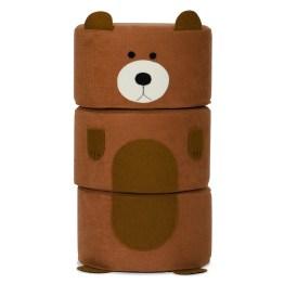 Hocker-Set Zoo Grizzly wird garantiert schnell zum Lieblingsspielzeug Ihrer Kinder avancieren