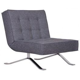 Ein Hingucker zum Ausklappen! Der Sessel Wave One in Grau meliert verzaubert durch sein elegantes Design in Verbindung mit praktischer Funktionalität. Chronischer Platzmangel gehört von nun an der Vergangenheit an