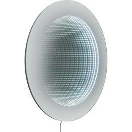 Spiegel: Genial surreal Dieser futuristische Spiegel strahlt von innen heraus. Mehrere Reihen Leuchtdioden sorgen für Strahlkraft und faszinierende 3D-Effekte. LED´s austauschbar. Kabel mit Kippschalter und Netzstecker. Weitere Ausführungen.