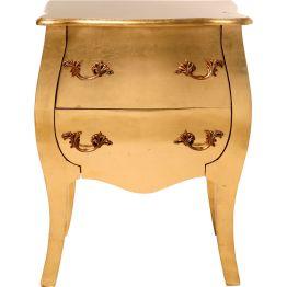 Kommode: Königlich barocke Kommode Die Kommode Romantic Gold Leaf steht wie ein kleiner König im Raum. Sie krönt die Einrichtung mit ihrem pompösen Goldschimmer