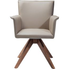 Stuhl: Drehwurm Klare Formen und sanfte Farbtöne verleihen dem Drehstuhl einen filmreifen Retro-Charme. Sitzfläche