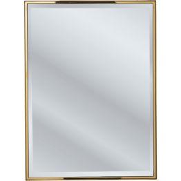 Spiegel: Schlichte Schönheit Der edle Wandspiegel in einer Edelstahlfassung aus Messing vereint schlichte Eleganz mit Glamour. Der Metall-Effekt und das Spiegelglas ergänzen sich zu einem exklusiven Design. Der Rahmen wirkt dadurch besonders stilvoll. In verschiedenen Ausführungen erhältlich.