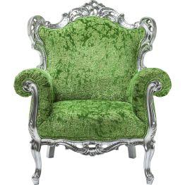 Sessel: Pop Art meets Barock Der Sessel der Serie Posh beindruckt mit hochwertiger Verarbeitung und extravagant- luxuriöser Gestaltung. Ausgestattet ist er zudem mit einer hoch kratzfesten Speziallackierung und einem edel strukturierten Designers Guild Stoff. Weitere Ausführungen und Farben erhältlich. Der Sessel Posh