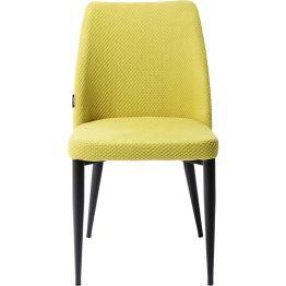 Stuhl: Schlicht und überzeugend präsentiert sich der Stuhl mit seinem sonnigen Gelb und dem reizvoll strukturierten Bezug in Wabenoptik. Die Beine sind in Schwarz gehalten und bieten einen schönen Kontrast. Dieser Polsterstuhl ist wie gemacht für gemütliche Gespräche beim Dinner und danach und er wertet jede Einrichtung stilvoll auf. Weitere Ausführungen erhältlich.