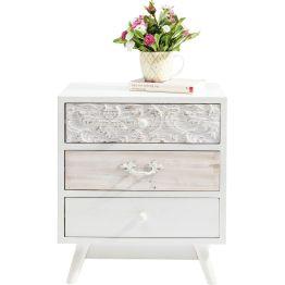 Kommode: Verzauberndes Design Kleine Kommode im modernen Romantik-Look. Sie besticht durch geschmackvolle Details