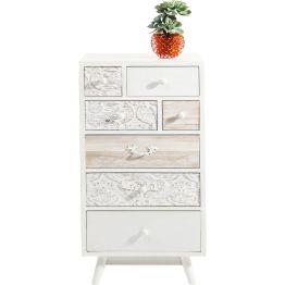 Kommode: Verzauberndes Design Hochkommode im modernen Romantik-Look. Sie besticht durch geschmackvolle Details