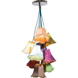 Lampe: Ein bunter Strauß Lampenschirme Blumen sind Emotionen und so zaubert diese Hängeleuchte