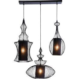 Lampe: Dreifach kunstvolles Lichtobjekt Diese außergewöhnliche und kunstvolle Deckenlampe wurde aus der Idee geboren