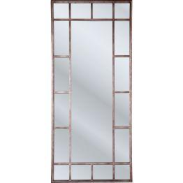 Eleganter Spiegel mit rustikalem Flair Dieser schicke Spiegel kommt im Look eines Eisenfensters daher und ist in verschiedene Flächen unterteilt. Der Spiegel Window Iron verleiht den vier Wänden ein rustikales