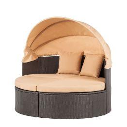 Sonneninsel Paradise Lounge M - Polyrattan - Graubraun/Beige - Stahlrahmen
