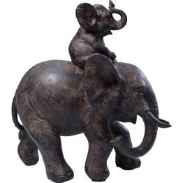 Deko-Figur: Fröhliches Elefanten-Duo im kolonialen Stil Wie wir wissen