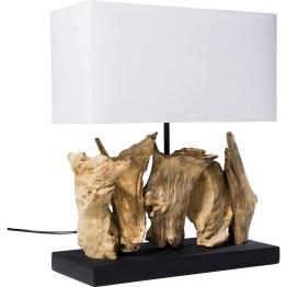 Lampe: Originelle Tischleuchte mit natürlicher Note Indonesisches Treibholz