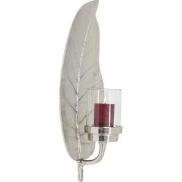 Kerzenständer: Kerzenlust Silberrausch für glanzvolle Momente. Der Kerzenhalter Leaf ist dank der feinen Blattzeichnung ein edler Blickfang. Ein Teelicht