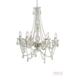 Lampe: Glamouröser Kronleuchter mit Glitzerfaktor Wie eine barocke Symphonie in Form einer stilvollen Hängeleuchte mit vielen opulenten Details präsentiert sich der sechsarmige Kronleuchter Starlight Clear. Mit unzähligen funkelnden Kunstkristallen besetzt sorgt sie für ein glamouröses Flair und zaubert dabei stimmungsvolle Lichteffekte in den Raum. Arme aus Acryl sorgen für eine hohe Stabilität der Hängeleuchte. Ein eindrucksvoller Blickfang