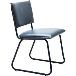 Stuhl: Cool Black Chair Großartige Kreationen bedürfen keines zusätzlichen Beiwerks – sie wirken aus sich heraus. Dieser ultralässige Designstuhl ist ein gelungenes Beispiel dafür. Er macht Purismus zum Vergnügen und gefällt durch seinen lässigen und zeitlos unaufgeregten Stil. In Kombination mit dem mattschwarz lackierten Rahmen