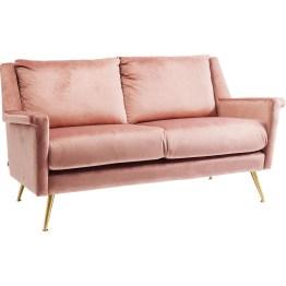 Sessel: Traum-Sofa in Samt-Rosé Mit diesem Sessel liegen Sie voll im Trend: Sanftes Rosa