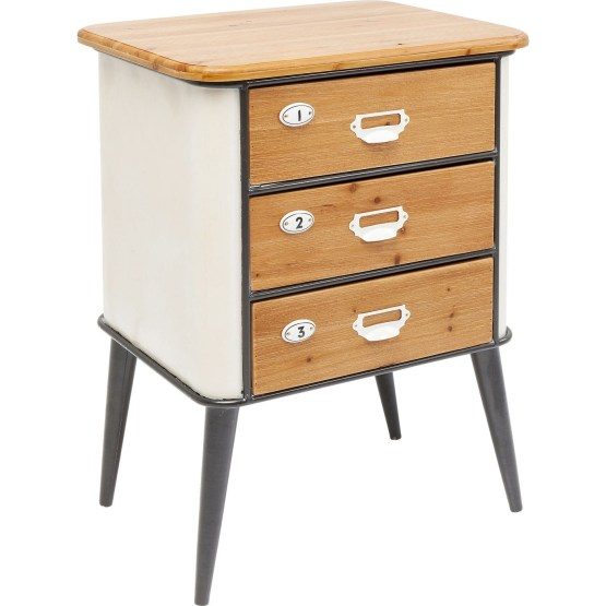 Diese Schubladen-Kommode erinnert an die guten alte Zeiten. Vielleicht guckt man sie deshalb auch so gerne an. Charakteristisch für die Serie Grannys Kitchen ist der freundliche Fifties-Look und der Mix von Holz mit Schwarz und Weiß. Verschiedene Modelle erhältlich.