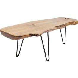 Uriges Holz auf filigranen Stahlbeinen: Wenn der aktuell im Trend liegende Industrial Style in einem einzelnen Möbelstück dargestellt werden würde