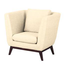 Sessel Sagone Webstoff - Cremeweiß