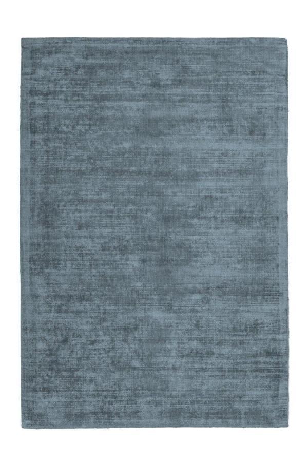 Viskose Teppich - Luxus-Teppich blau