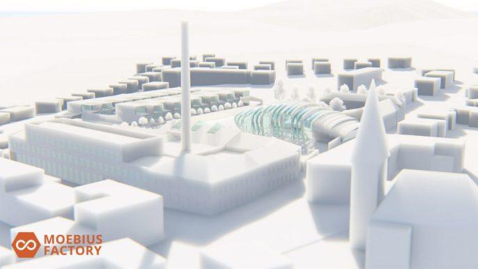 Moebius Factory rendu 3d aspect styrofoam