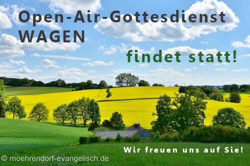 Open-Air-Gottesdienst WAGEN findet statt