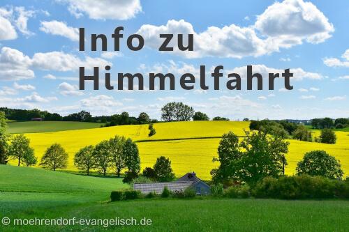 Info zum Open-Air-Gottesdienst WAGEN an Himmelfahrt (13. Mai)