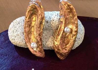 ORECCHINI FLUIDITA' (bronzo con perle 1)