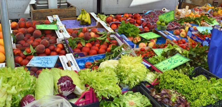 Market day in Albenga Italy Liguria