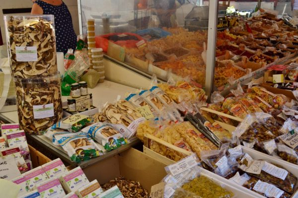 mushrooms in Albenga Market