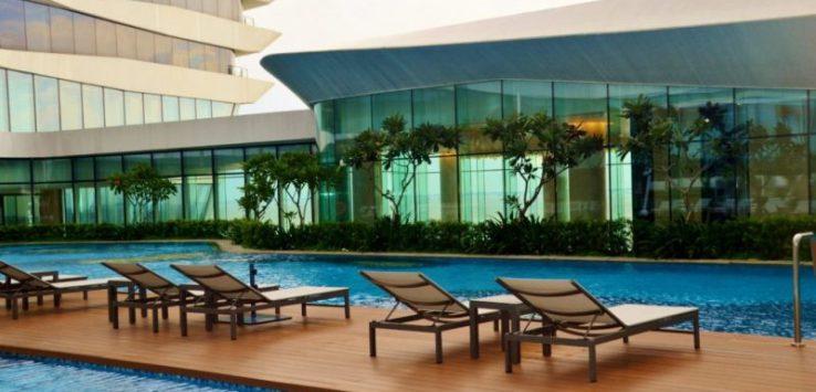 Pool at Conrad Hilton Manila