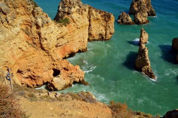 Beautiful rock formations of the Algarve