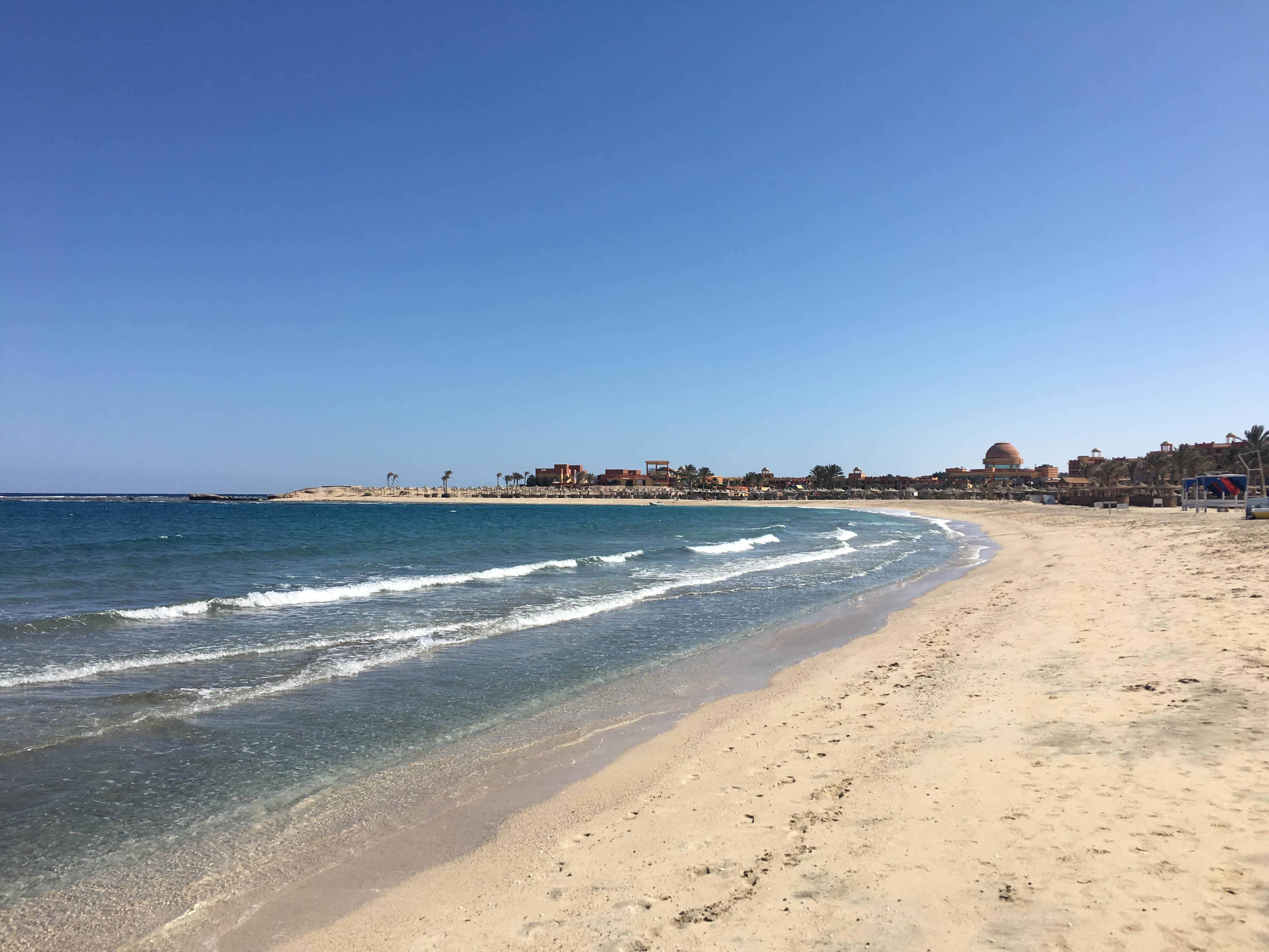 Unser Strand aus der Ferne