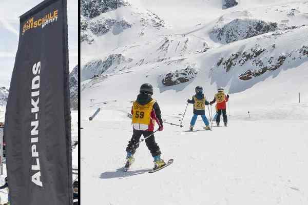 Skirennen im Zuge des Kindergruppenskikurs