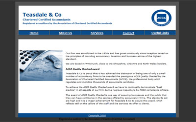 Teasdale old site home page
