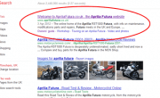 Google screenshot showing Aprilia Futura top