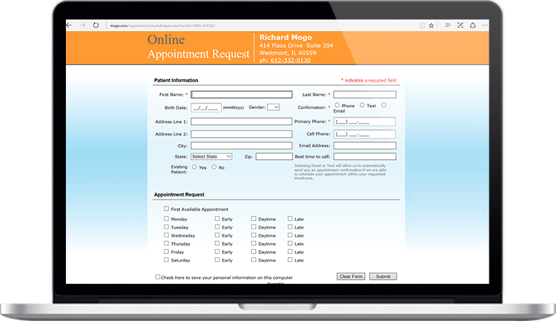 Dental Practice Management Software Easy Online Appointment Request Feature