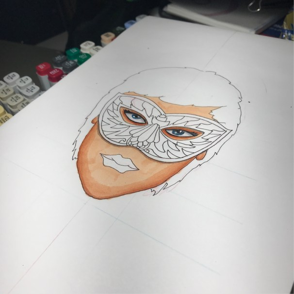 Shading the skin using copic