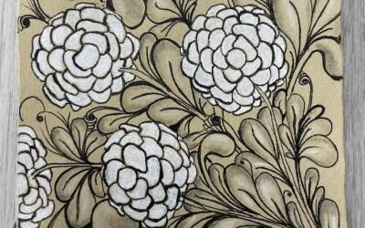 Zentangle Class: Renaissance Tile