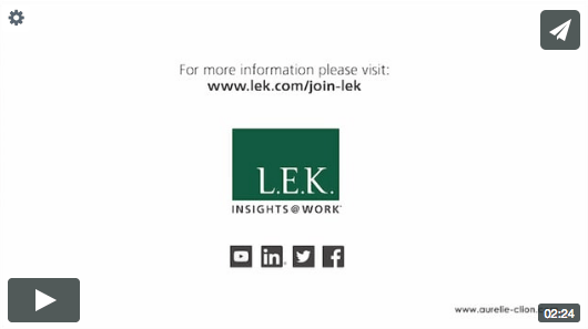 LEK CONSULTING BY MOHCA