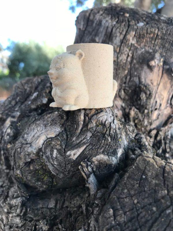 Tocho madera 3D castor