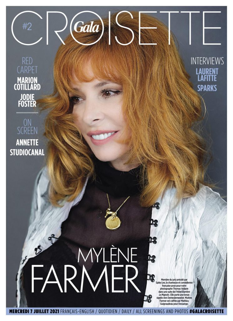 Mylène Farmer pour Gala Croisette par Thomas Vollaire