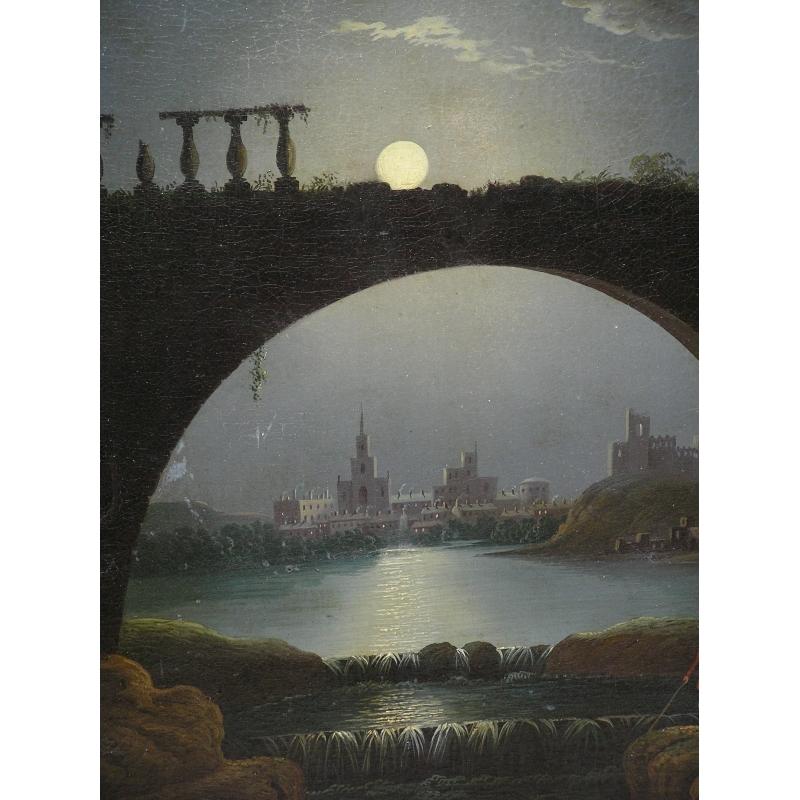 Peintures Tableau Scne Romantique Clair De Lune